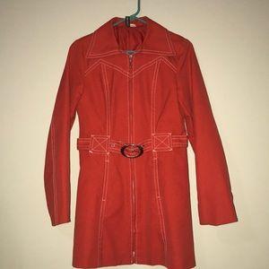 Divided by H&M trench coat reddish orange w/belt